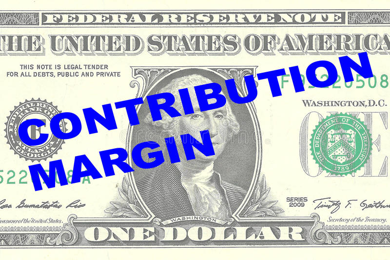 Contribution Margin concept royalty free illustration