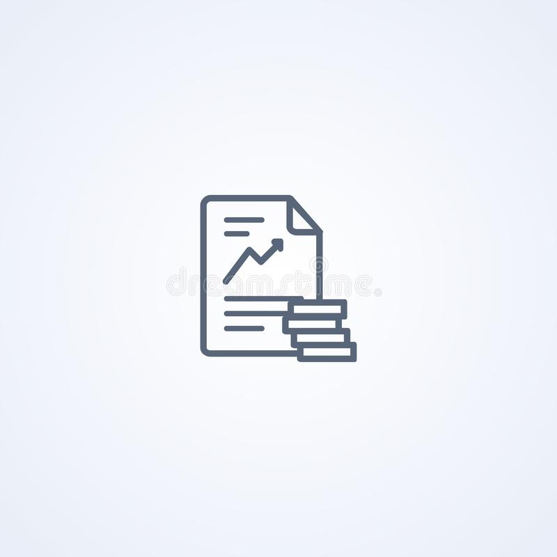 Contributo finanziario, migliore linea grigia icona di vettore royalty illustrazione gratis