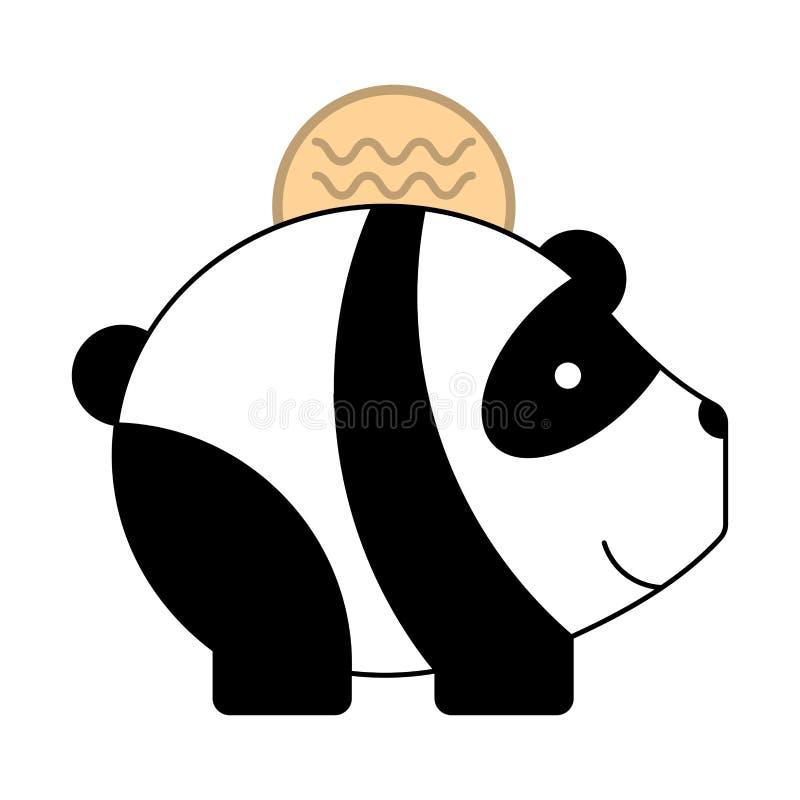 Contributor_Money Panda Illustration ilustração royalty free