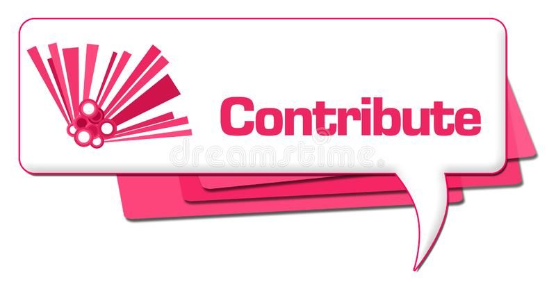 Contribuya el símbolo gráfico rosado del comentario stock de ilustración