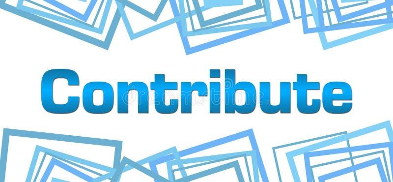 Contribuya el top al azar azul de la parte inferior de los cuadrados libre illustration
