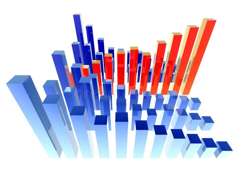 Contro la tendenza illustrazione di stock