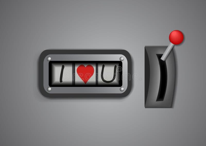 Download Contro rotolo di ti amo illustrazione vettoriale. Illustrazione di fortuna - 56875910