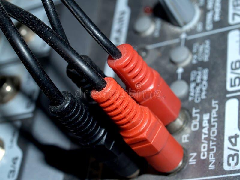 Control 5 del mezclador de sonidos fotografía de archivo