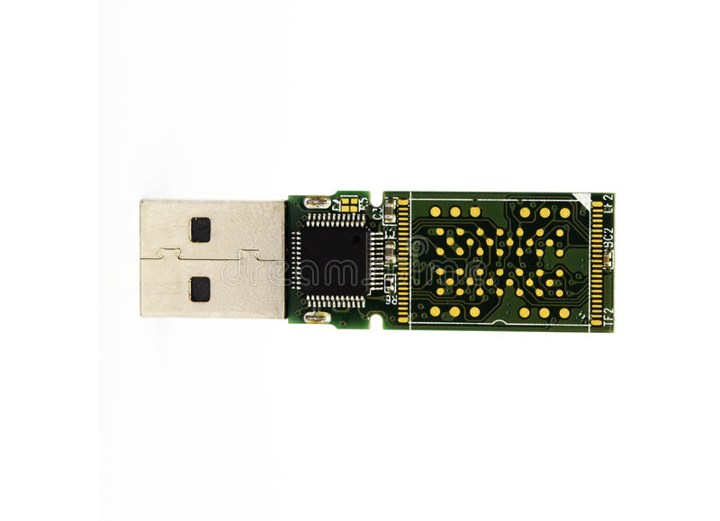 Control board chip of usb flash drive royalty free stock images