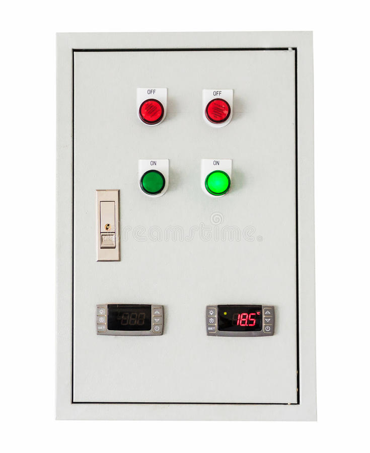 Control box on isolated white with clipping path. royalty free stock images