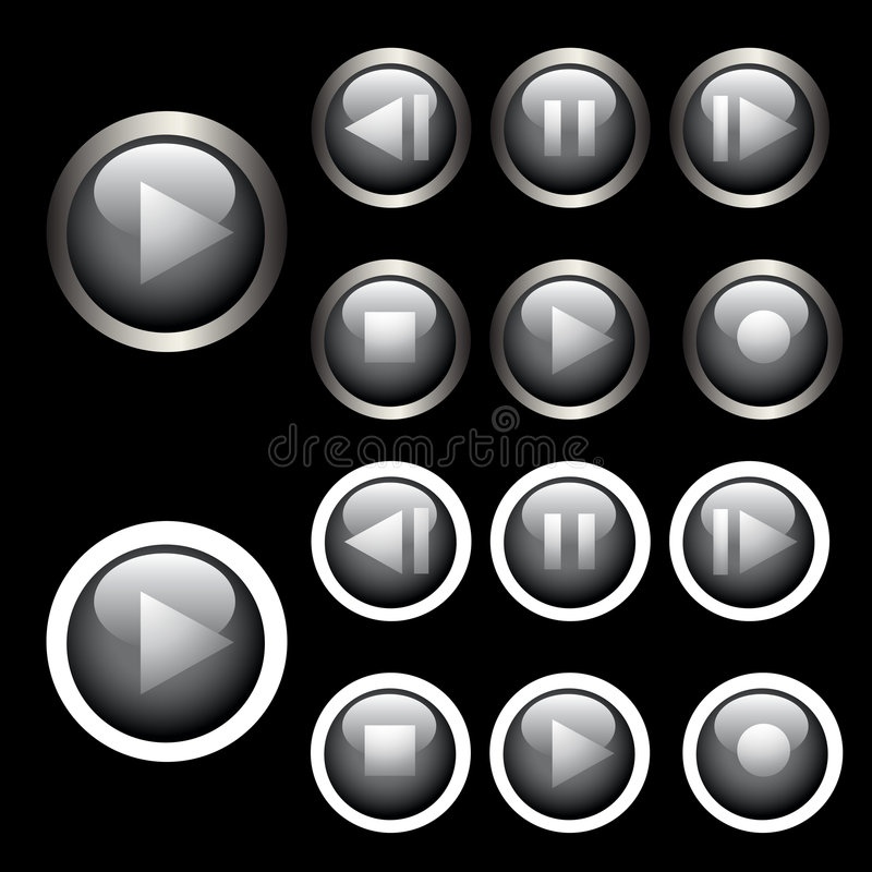 Control Buttons Royalty Free Stock Photography