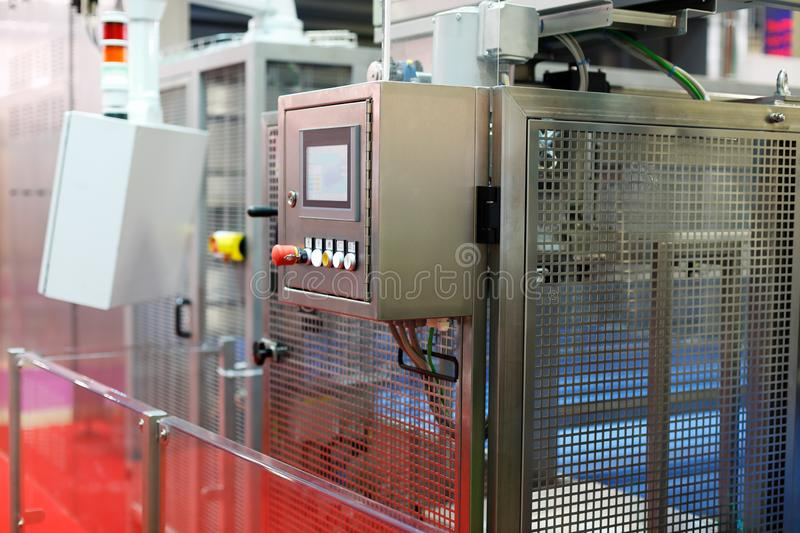Control cabinet of automated industrial equipment stock photography