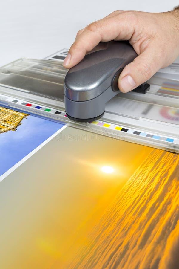 Control compensado de la impresión imágenes de archivo libres de regalías