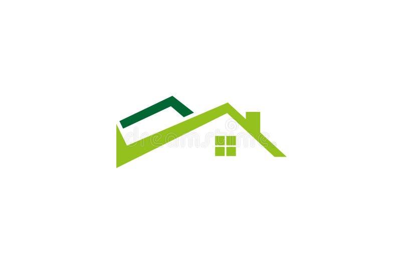 Control creativo Logo Design Vector Symbol Illustration de la casa ilustración del vector