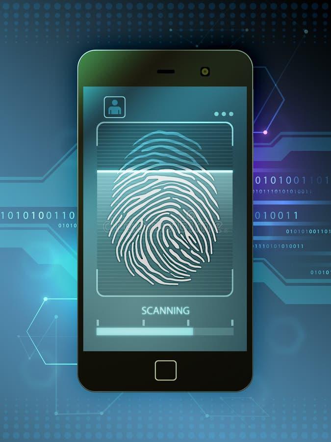 Control de acceso biométrico stock de ilustración