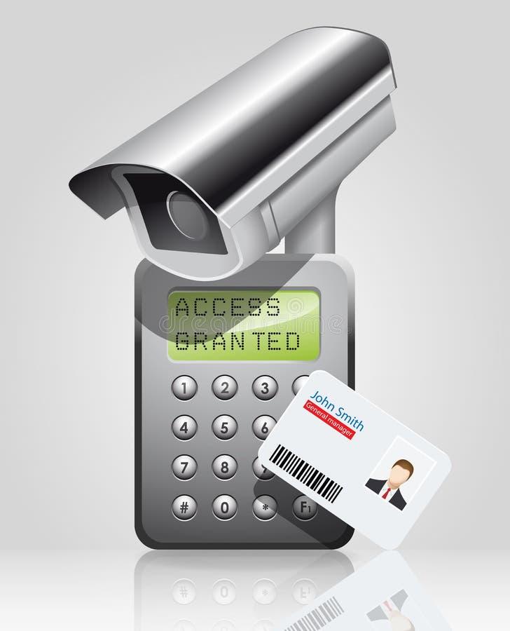 Control de acceso - tenga acceso concedido al encargado libre illustration