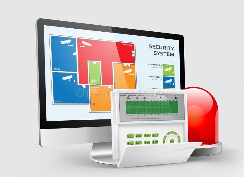 Control de acceso - zonas 2 de la alarma ilustración del vector