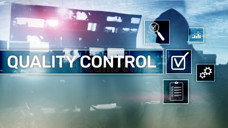 Control de calidad y garantía estandardización garantía estándares Concepto del negocio y de la tecnología imagen de archivo