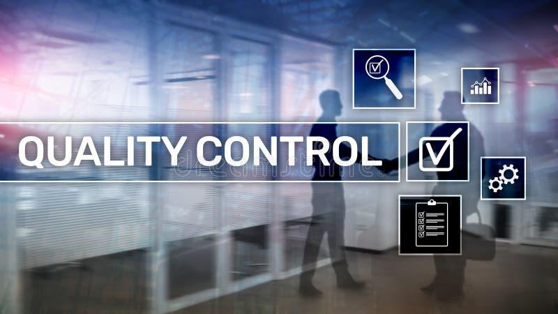 Control de calidad y garantía estandardización garantía estándares Concepto del negocio y de la tecnología foto de archivo