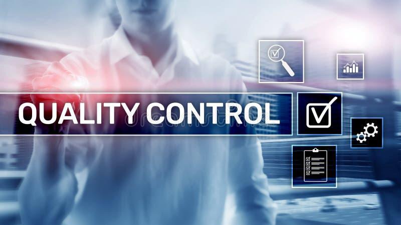 Control de calidad y garant?a estandardizaci?n garant?a est?ndares Concepto del negocio y de la tecnolog?a fotografía de archivo