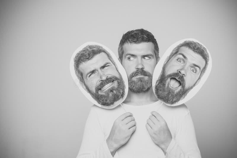 Control de emociones Inconformista con el letrero sorprendido y serio del retrato del control de la cara fotografía de archivo libre de regalías