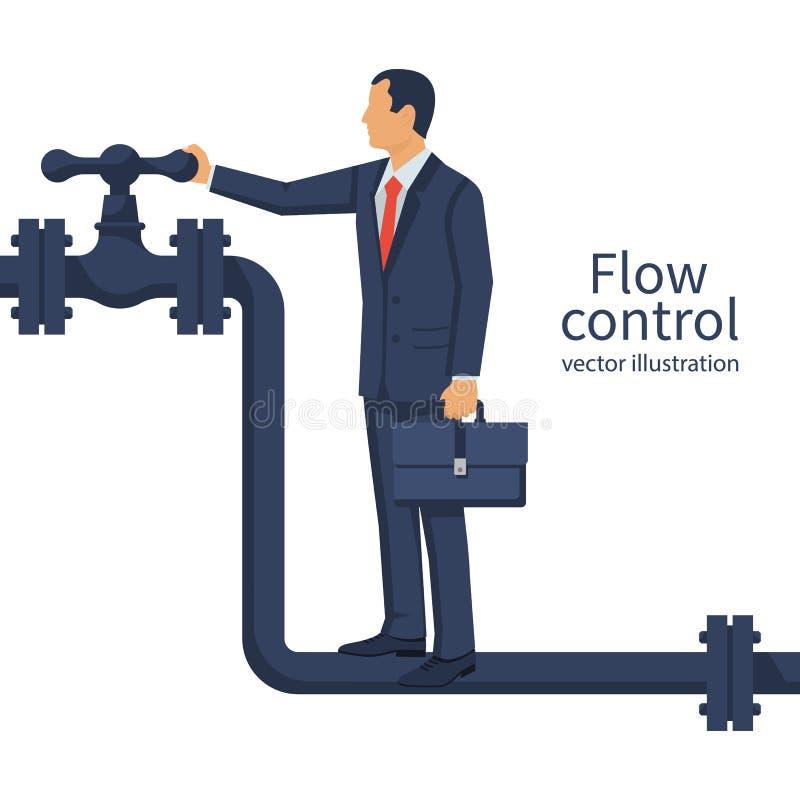 Control de flujo Vector ilustración del vector