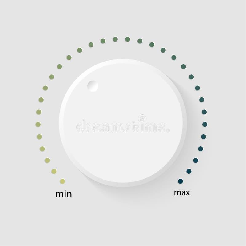 Control de la música del volumen del vector stock de ilustración