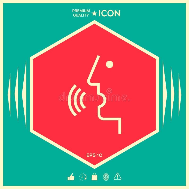 Control de la voz, persona que habla - icono libre illustration