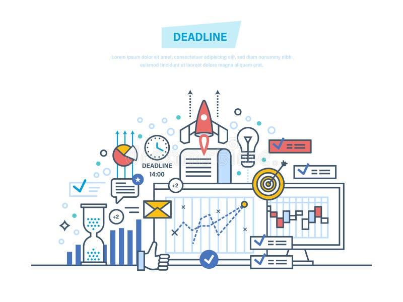 Control de tiempo, limitación, planificación de empresas libre illustration