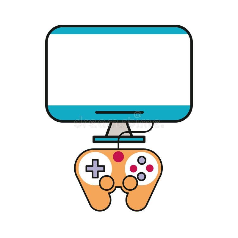 Control de videojuegos con icono del controlador de visualización fotos de archivo