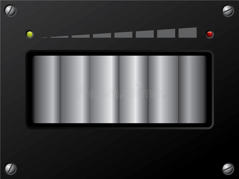 Control de volumen con llevado ilustración del vector