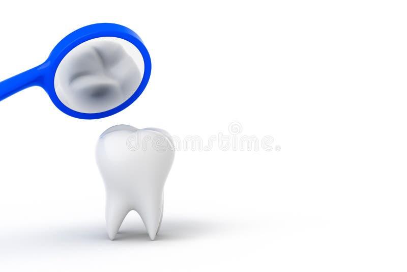 Control del cuidado dental libre illustration