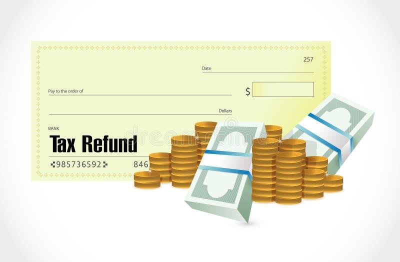 control del reembolso del impuesto y diseño del ejemplo del dinero libre illustration