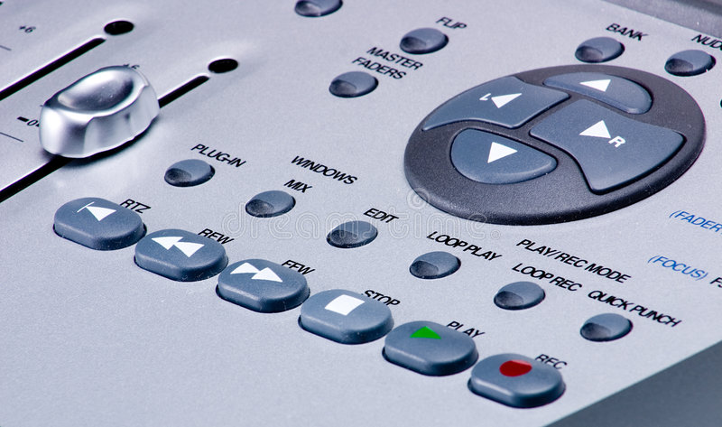 Control del transporte del mezclador de Digitaces imágenes de archivo libres de regalías