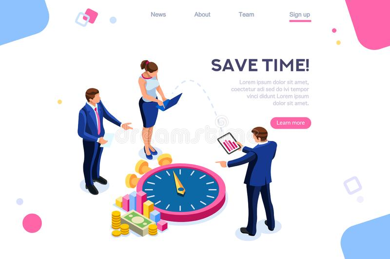 Control Economy Time Concept Consulting Money royalty free illustration