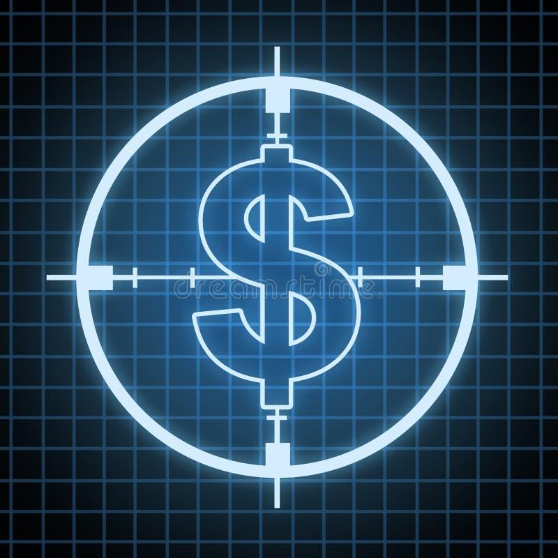 Control en el gasto y ahorros ilustración del vector