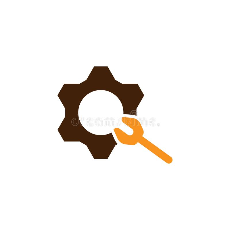Control, gear icon. Element of Web Optimization icon for mobile concept and web apps. Detailed Control, gear icon can be used for. Web and mobile on white stock illustration