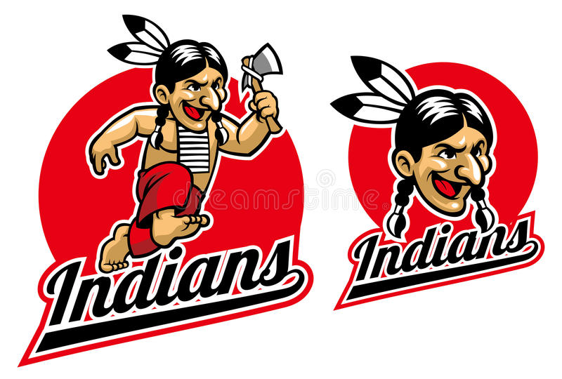Control indio nativo un hacha libre illustration