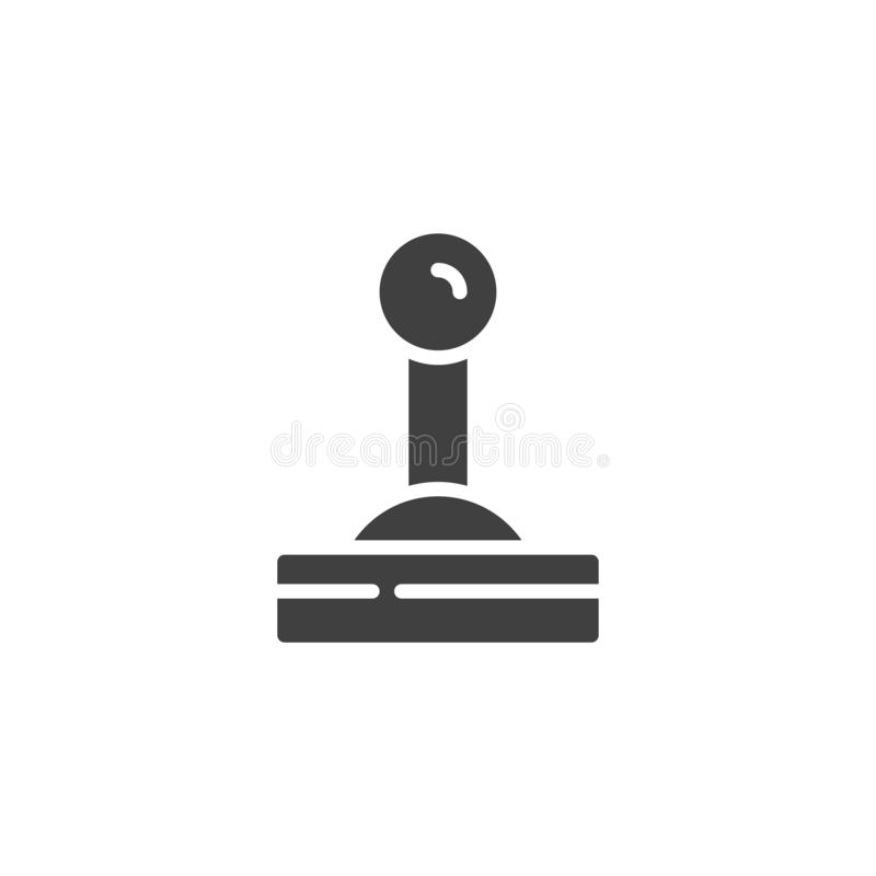 Control lever vector icon. Filled flat sign for mobile concept and web design. Lever glyph icon. Symbol, logo illustration. Vector graphics stock illustration