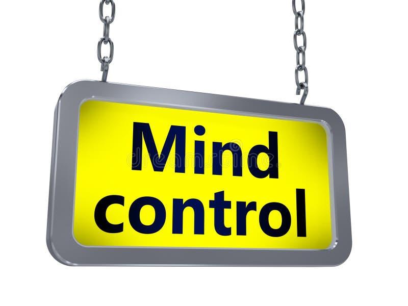 Control mental en la cartelera ilustración del vector