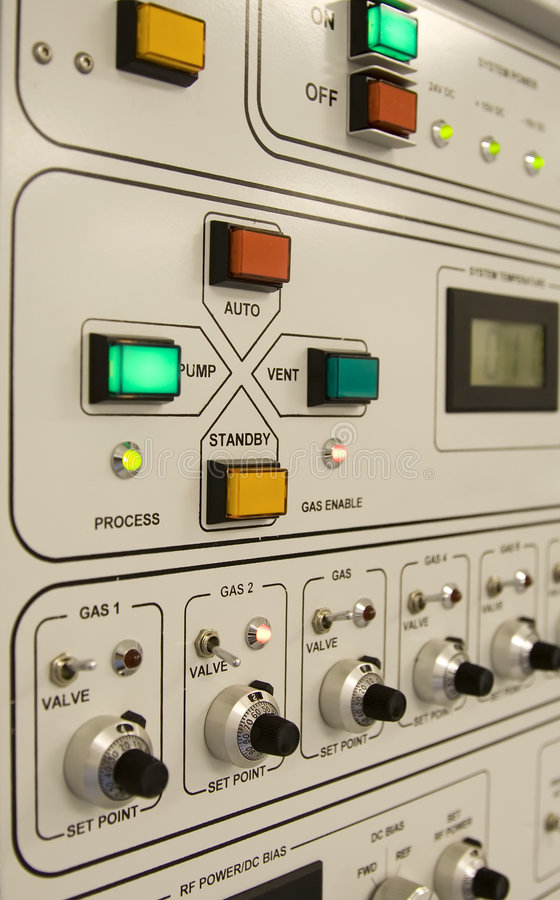 Control Panel. Of a clean-room equipment