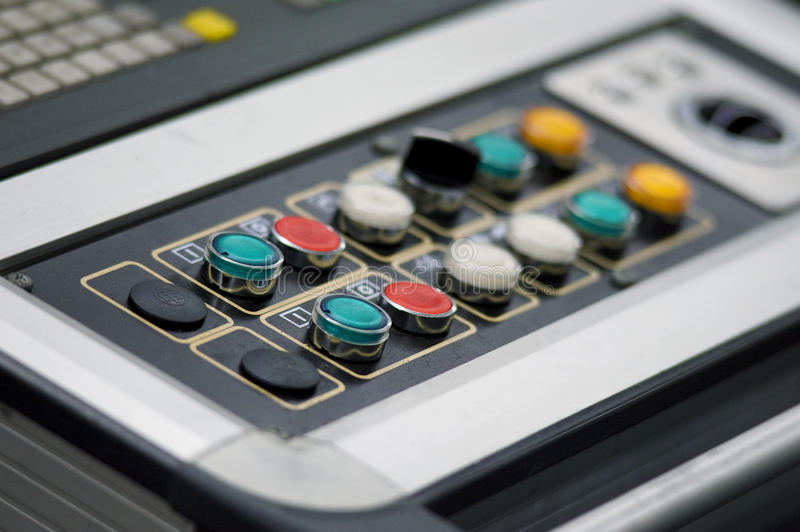 Control Panel Buttons Stock Photo