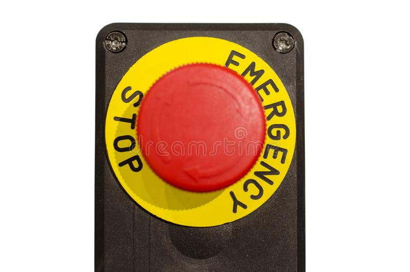 Control panel with buttons. Panel stock image