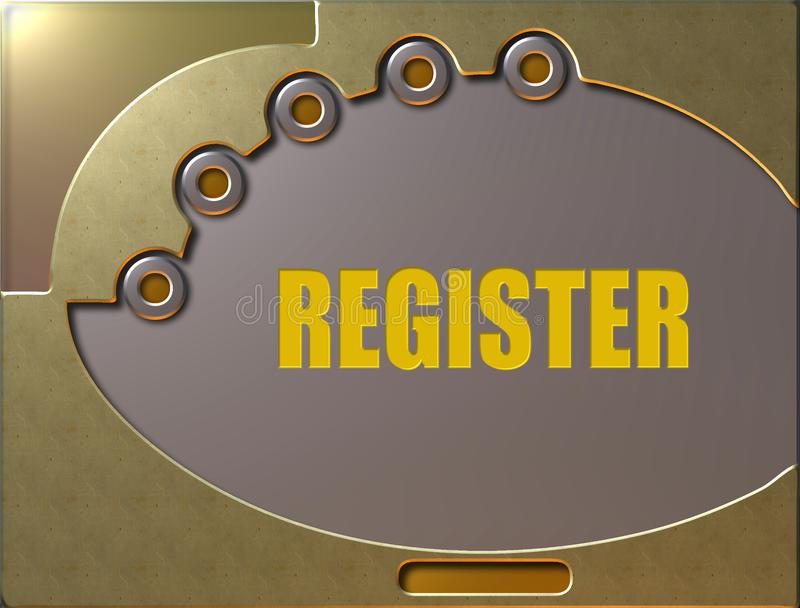 Control panel register stock illustration