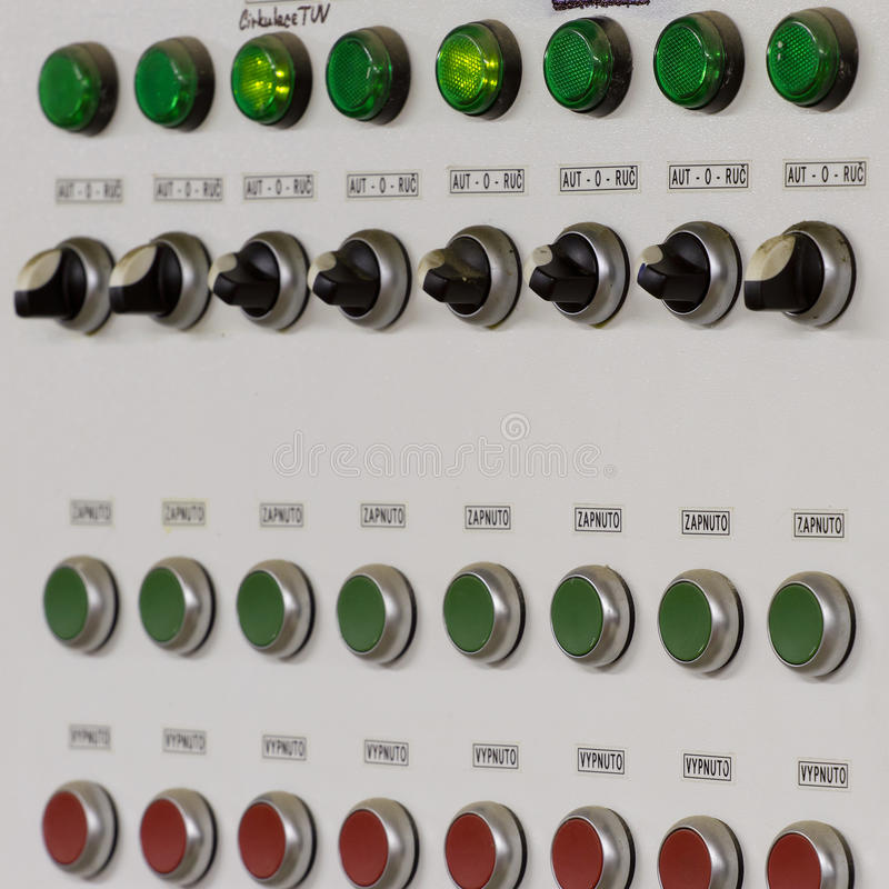 Control Panel With Buttons And Levers Stock Illustration ...