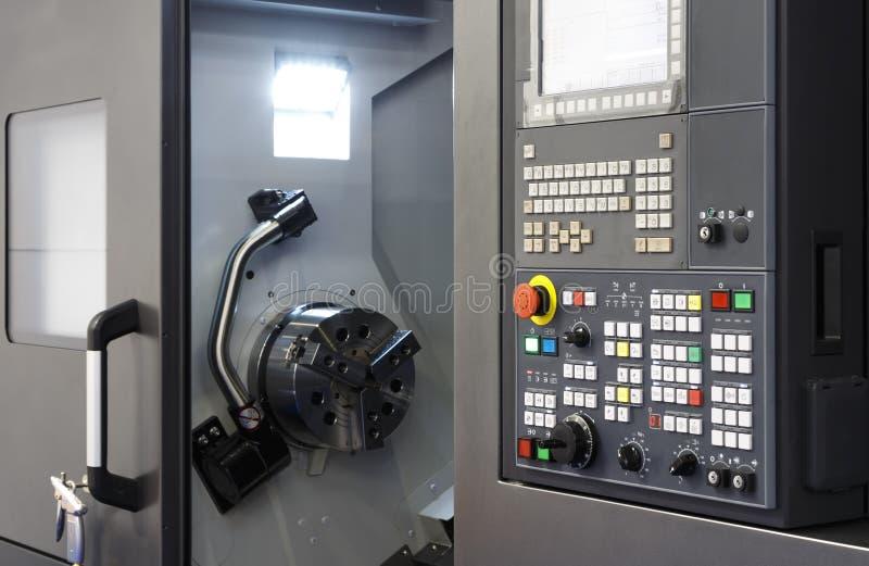 Control panel of CNC milling machine stock photos