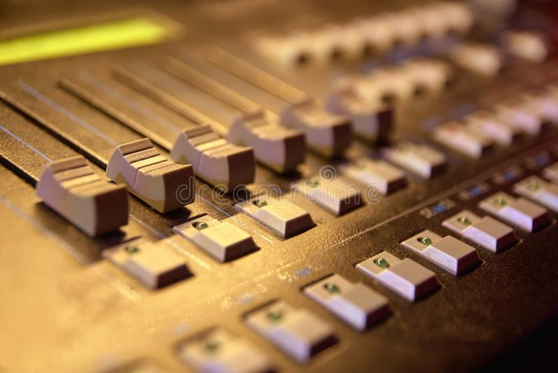 Control Panel. Different buttons. Modern equipment royalty free stock photography