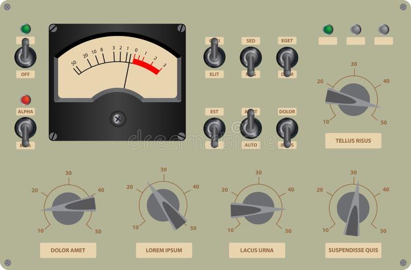 Control Panel. Editable vector illustration of analog control panel stock illustration