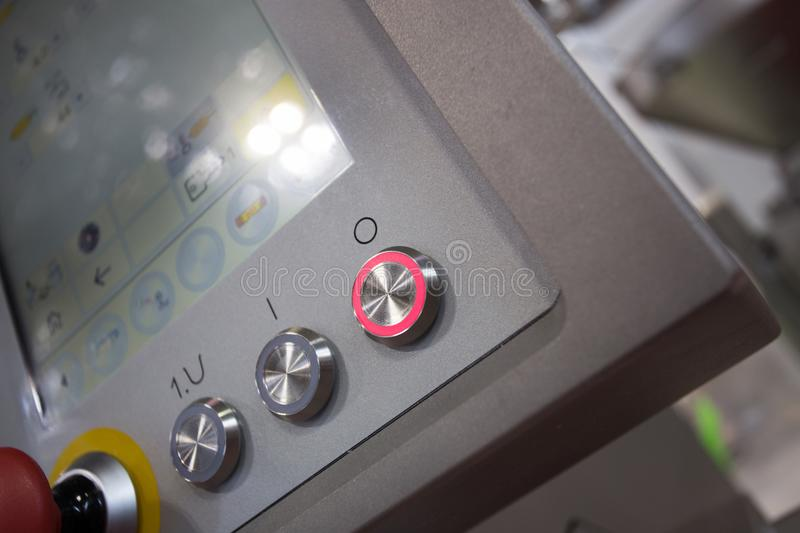 Control panel in food industry machine royalty free stock photos