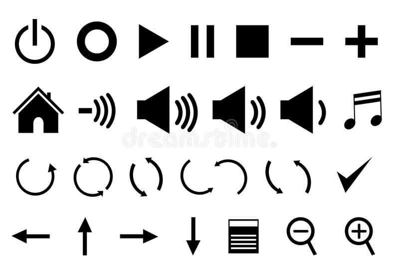 Download Control panel icons stock vector. Illustration of multimedia - 18754296