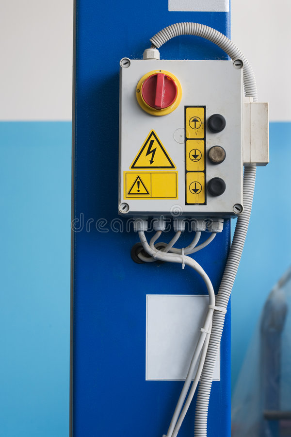 Download Control panel of the lift stock photo. Image of button - 4384206
