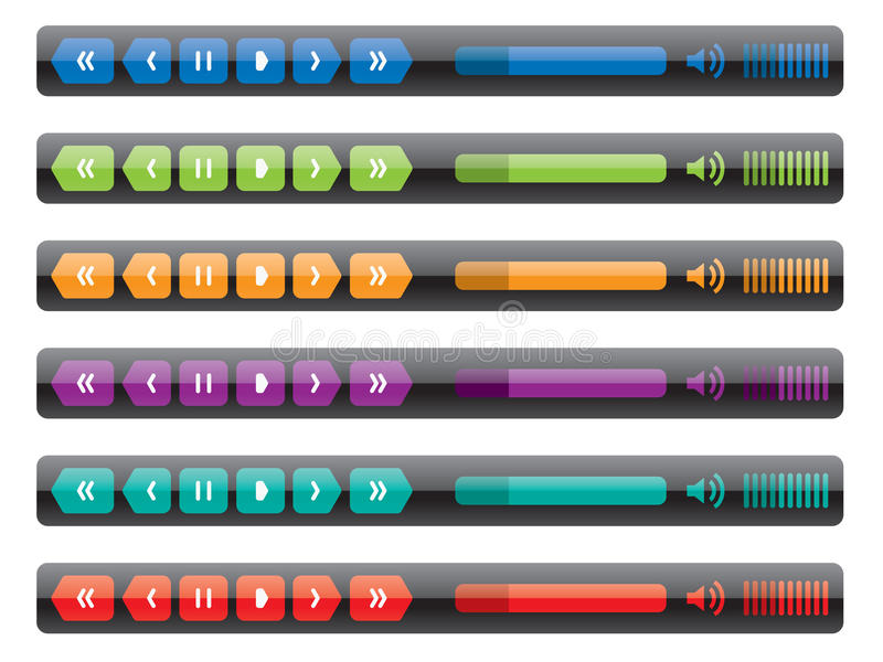 Control panel of media player royalty free illustration