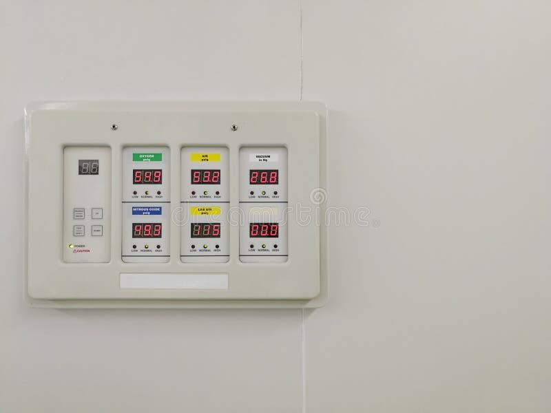 Control Panel of Pressure Regulator stock photography
