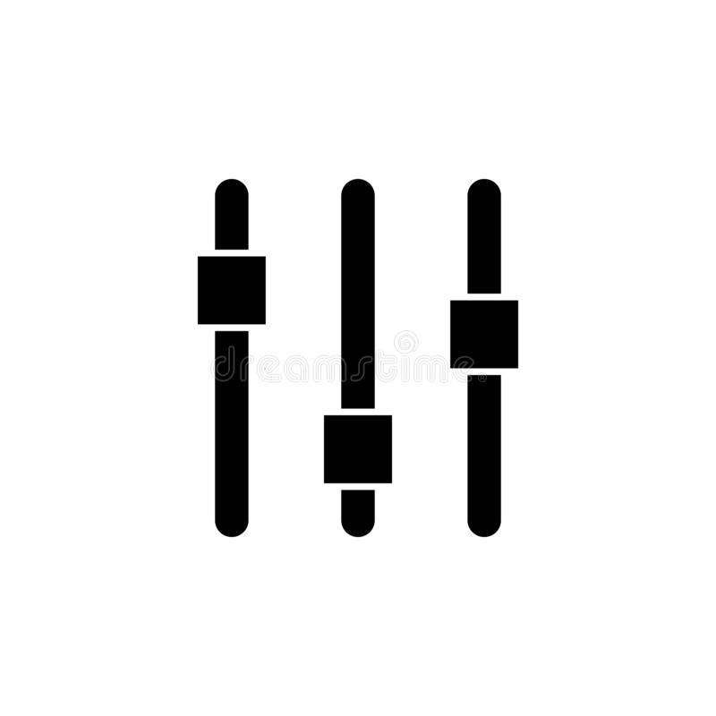 Control panel, settings system icon. Signs and symbols can be used for web, logo, mobile app, UI, UX stock illustration